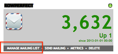 FeedBlitz manage mailing lists