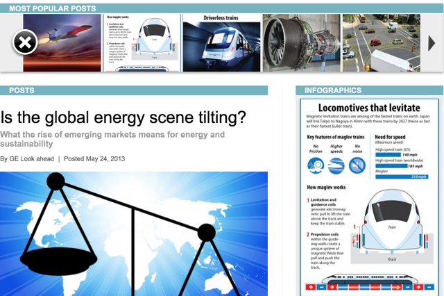 GE Future Energy native advertising page