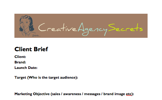 Agency Client brief template