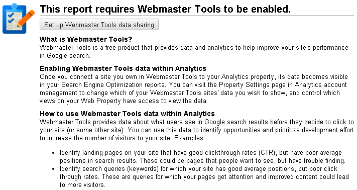 Set Up Google Webmaster Tools