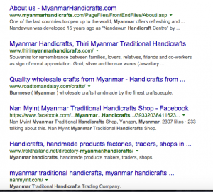Myanmar Handicrafts