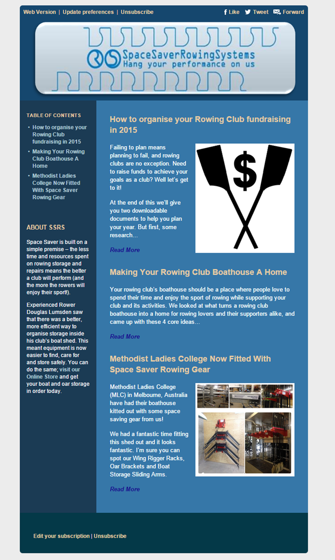 ssrs newsletter