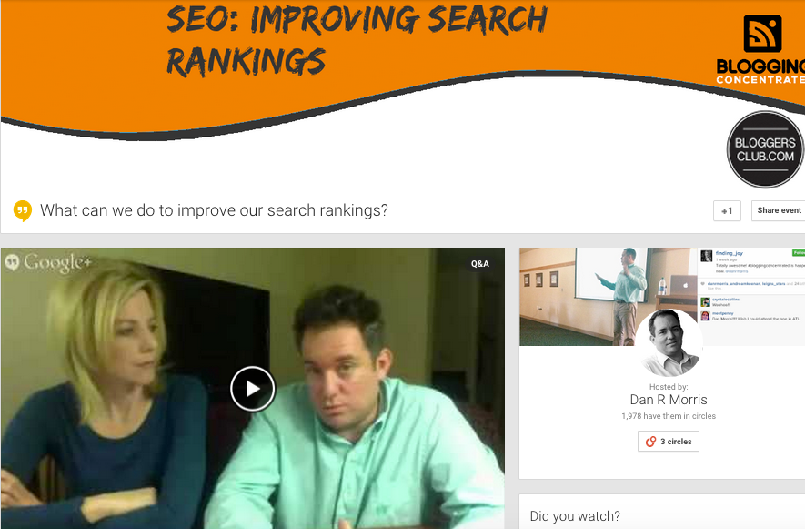 SEO improving search rankings