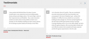 Crossfire Fire Engineers testimonials