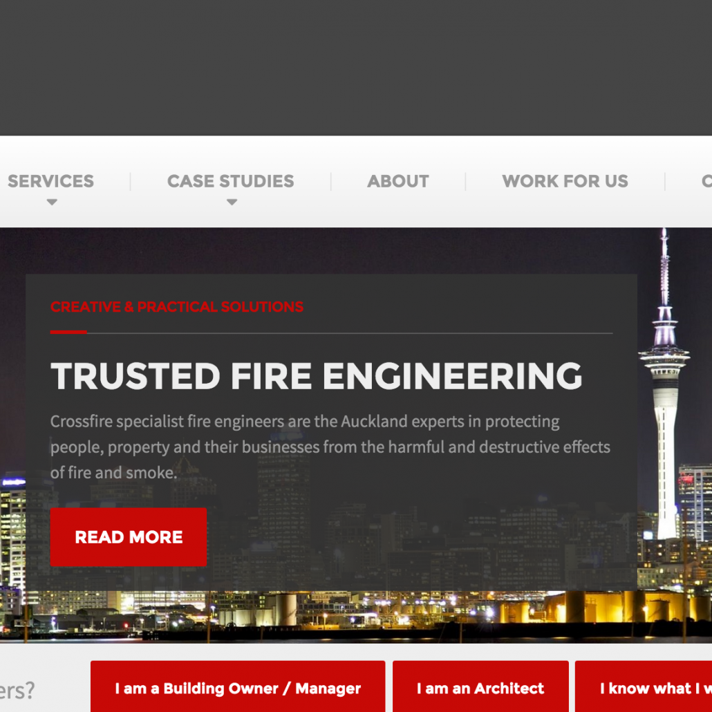 Crossfire Fire Engineers, Auckland, new website copy
