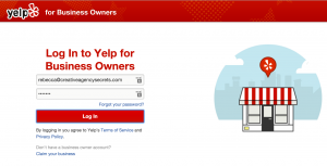 Yelp claim your business