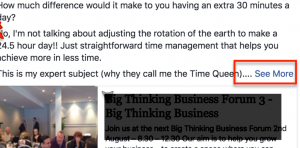 Facebook business post errors