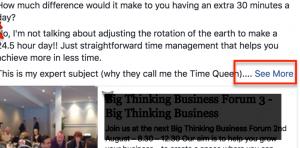 Facebook business post errors