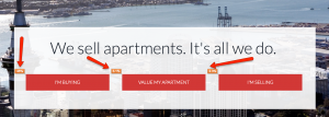 apartment specialists website redesign