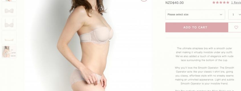 rose thorne, buy bras online, Sue Dunmore, Rose and Thorne lingerie, good value strapless bra