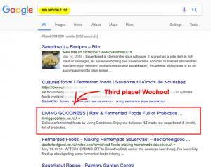 living goodness google ranking