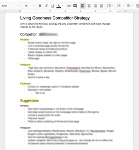 How to do a competitor strategy screenshot 1