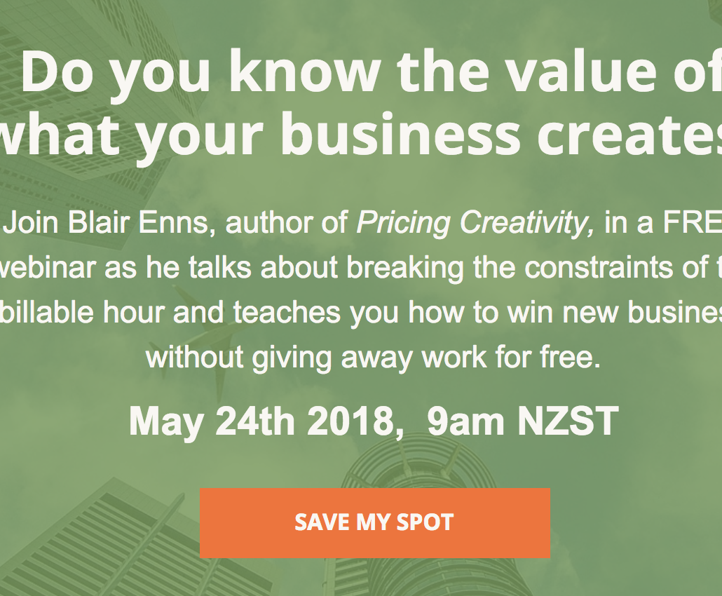 Pricing Creativity Webinar Registration Details