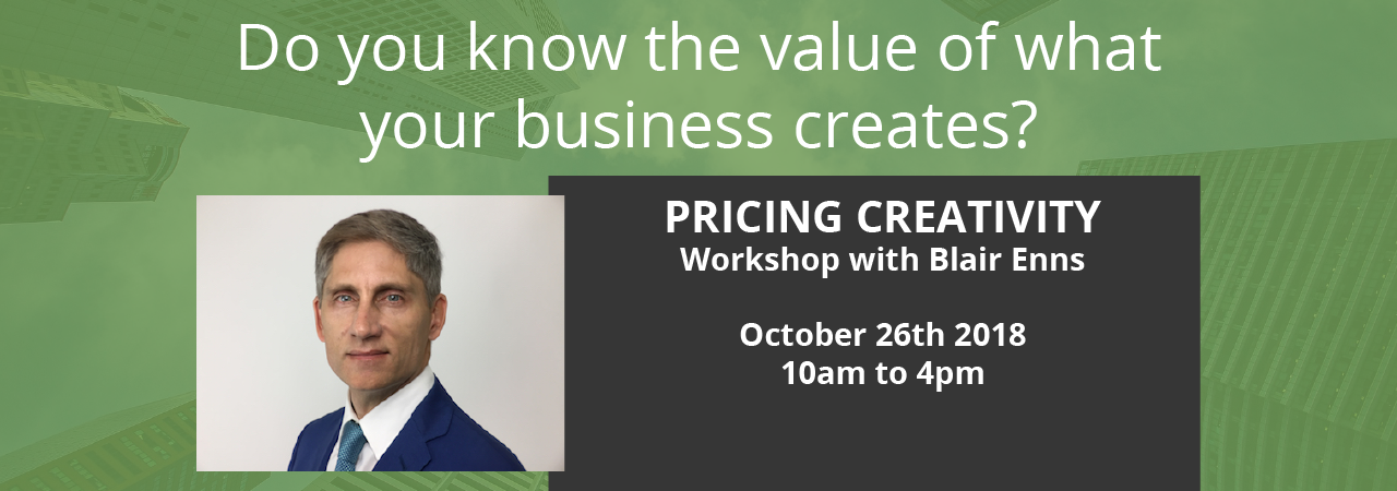 blair enns pricing creativity workshop auckland