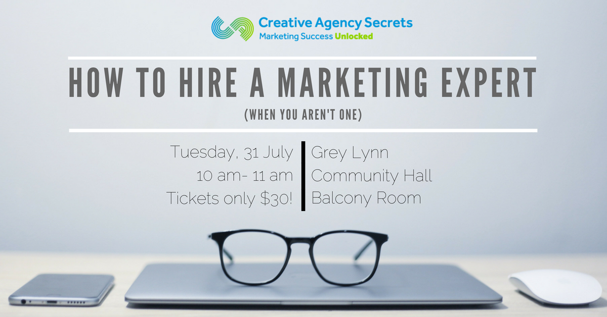 how to hire a marketing expert flyer
