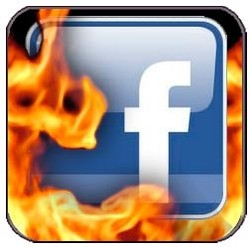 Facebook Icon On Fire