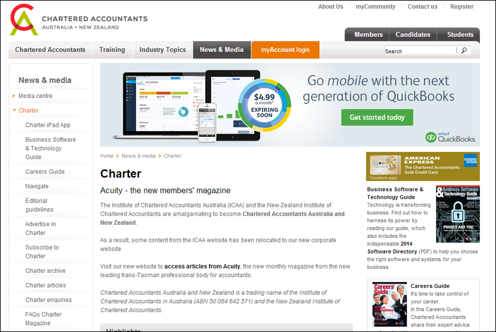 chartered accountants information