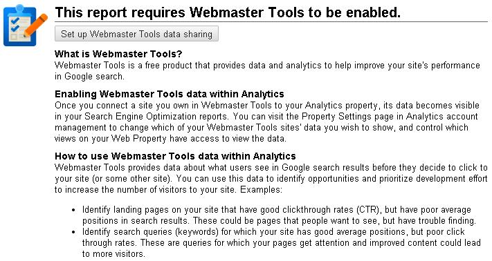 Set Up Google Webmaster Tools