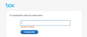 Box.com dumb unsubscribe