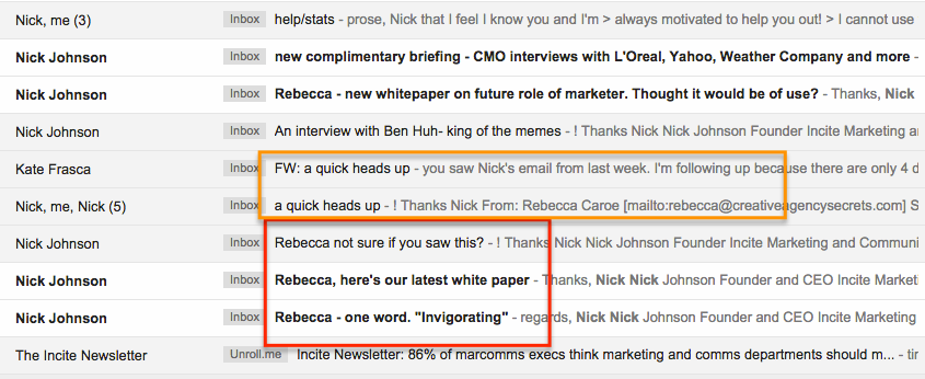 Cold email subject lines