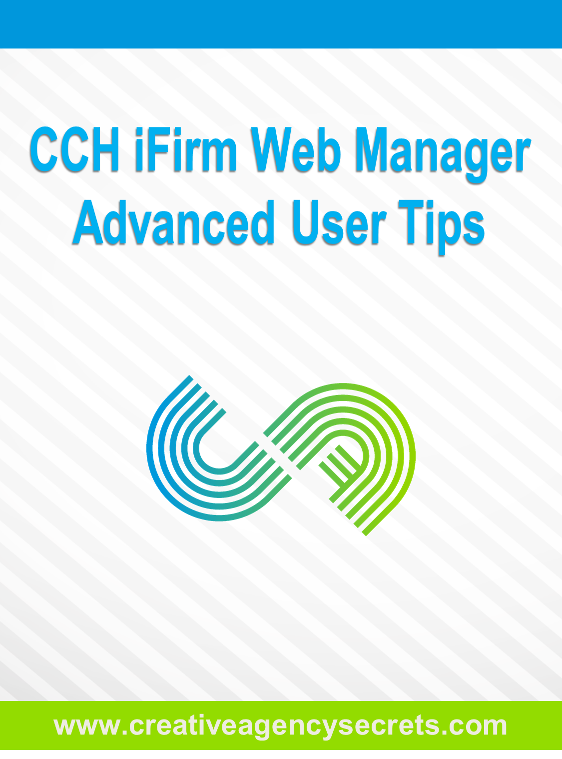 CCH iFirm Web Manager Advanced User Tips Cover