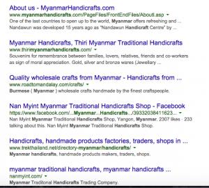 Myanmar Handicrafts