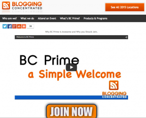 Blogging Concentrated Prime membership area