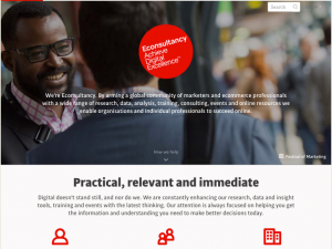 Econsultancy landing page copywriting example