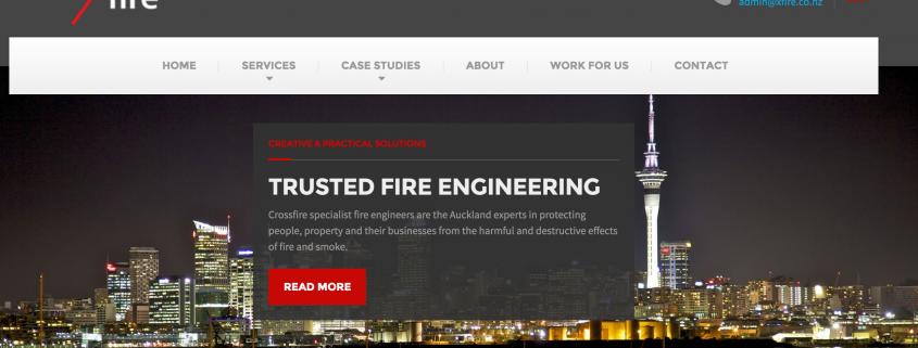Crossfire Fire Engineers, Auckland, new website copy