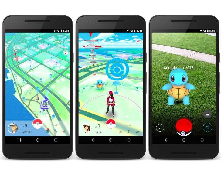 Pokémon GO screen on smartphone