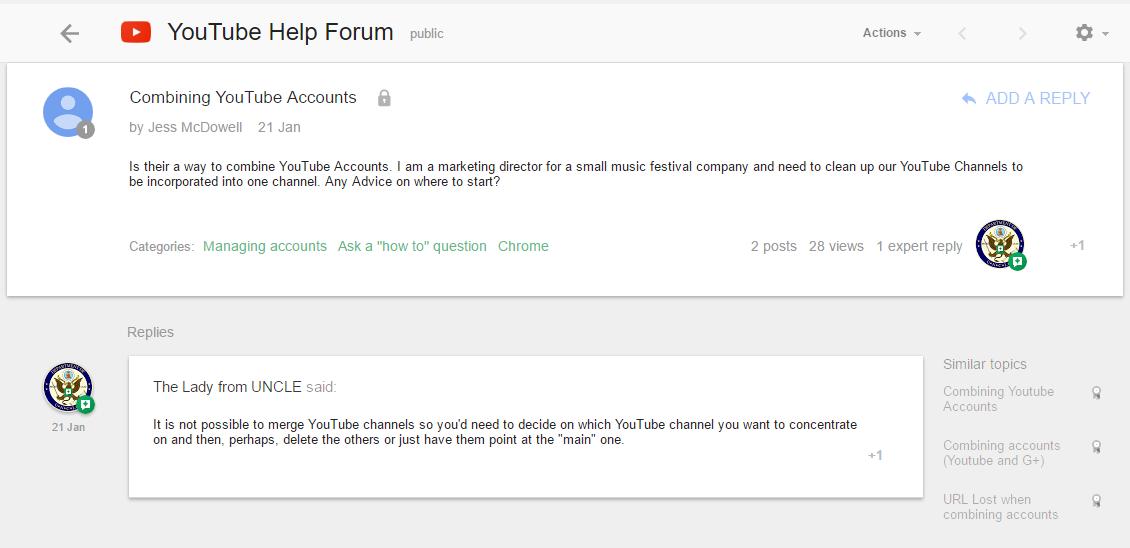 Help! My YouTube Accounts Won't Merge!