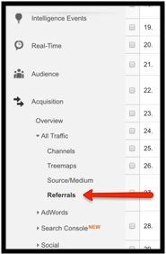 Google Analytics referrals