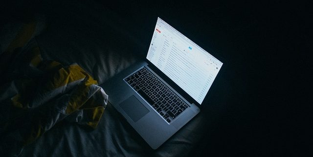 emails on a laptop screen