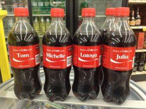 Coca Cola personalisation