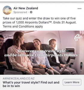 Air NZ Contest quiz, CRM, customer segmentation
