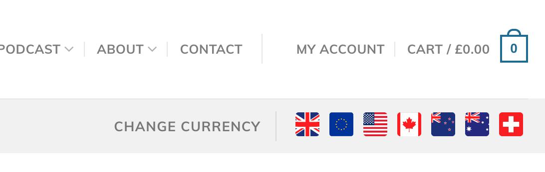 woocommerce, Full multi currency list