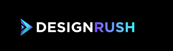 DesignRush logo, agency search service,