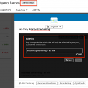 LinkedIN new feature, company page linkedIN
