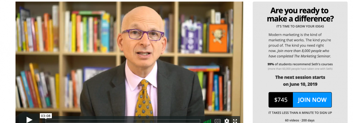 seth godin, purple circle, marketing easter egg