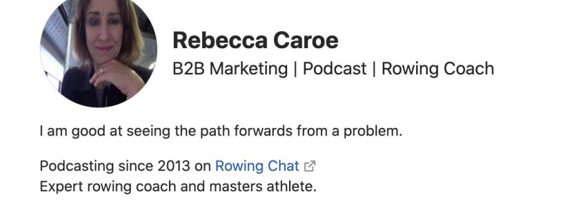 Rebecca Caroe Quora profile