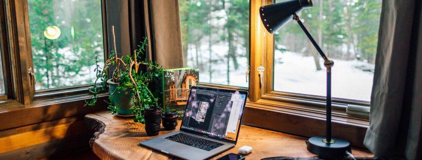 home office desk corner