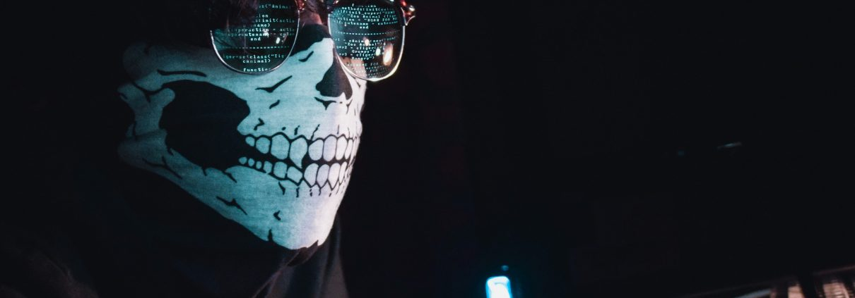 cyber security, masked hacker