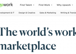 Upwork logo, marketplace, hire marketing talent