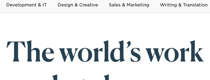 Upwork logo, marketplace, hire marketing talent