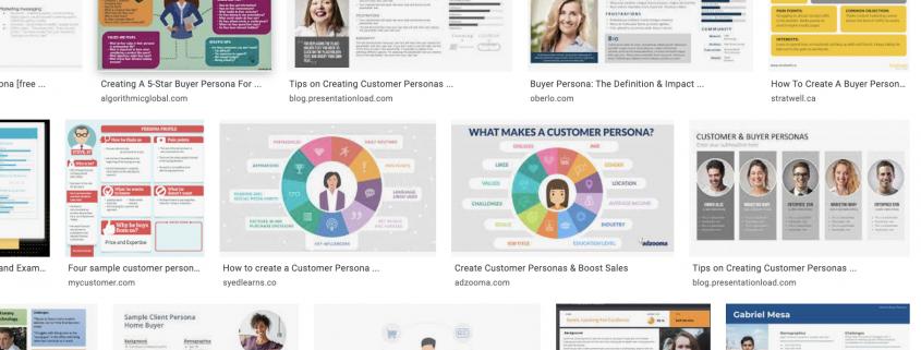 customer persona templates